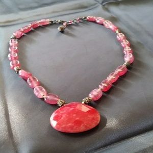 FUCHSIA NECKLACE FROM TALBOTS